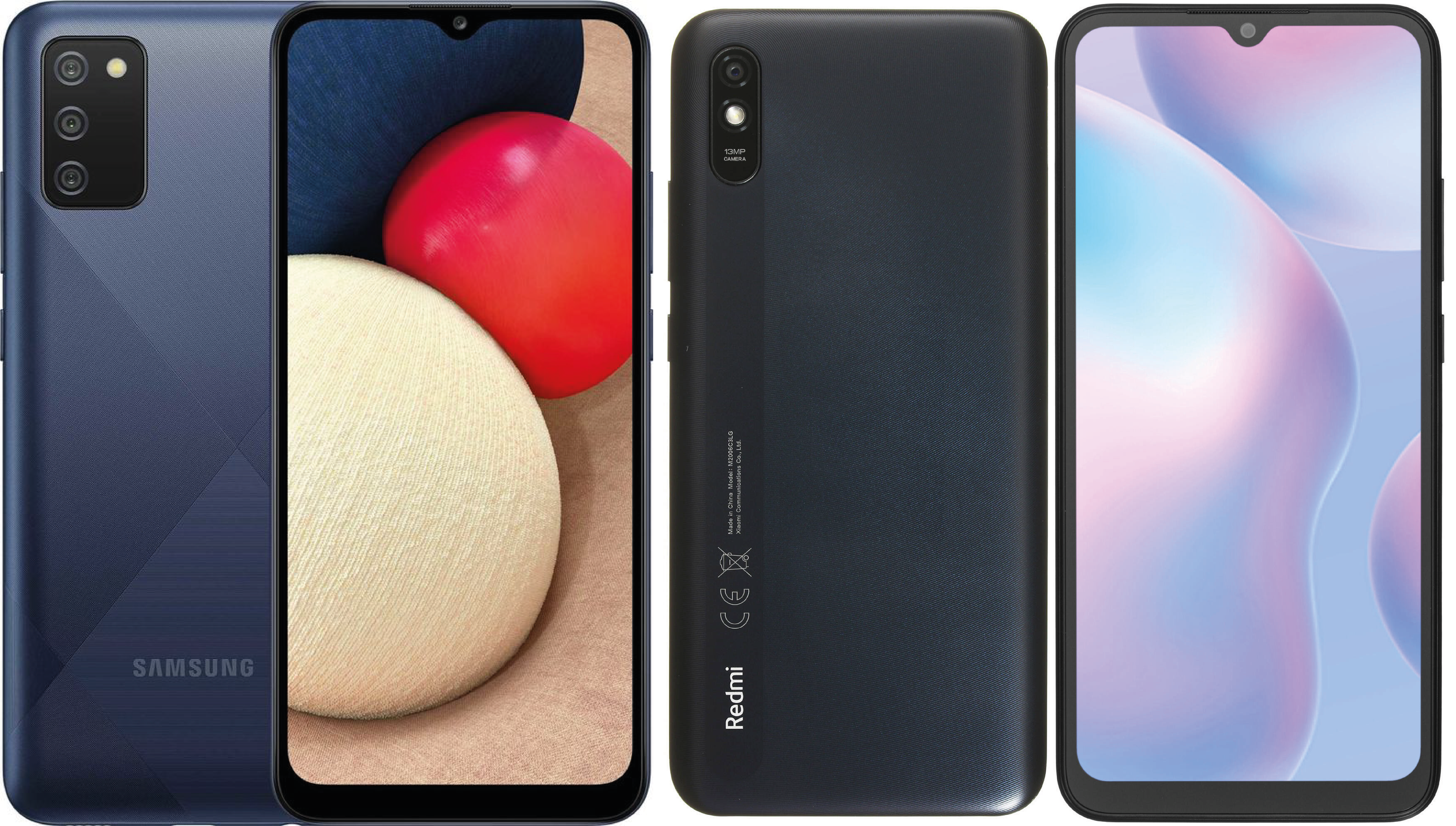 Xiaomi Redmi 9A и Samsung A02 / A02s / A22